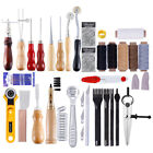 Professional Leather Craft Tools Kit Hand Sewing Stitching Punch Carving Saddle