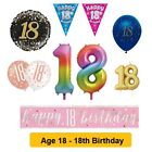 Party Decorations Balloons & Banners - AGE 18 - Happy 18th Birthday - Milestone