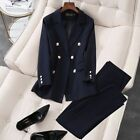 Womens Office Clothing Wear Pant Suits 2 Pieces Pair Sets Blazer Jacket Trousers
