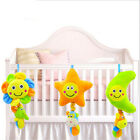 Soft Pull Bell Rattle Toys Newborn Lovely Safety New Baby Kids Plush Hanging N3