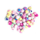 Safety Teething Ball Baby Chewing Toy Heart Mini Ball Pendants Colorful 5Pcs N3