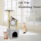 Cat Tree Climbing Tower Scratching Post Sisal Tower Kitten Activity Centre Bed