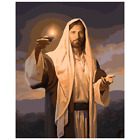 Jesus With Candle Painting Light Guiding Religious Paint By Numbers Kit DIY