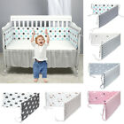 Baby Bed Bumper Crib Around Cushion Cot Protector Toddler Pillows Room Decor