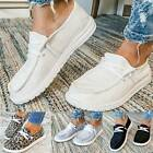 Casual Women Pumps Slip On Flat Loafers Trainer Sneakers Comfy Boat Shoes Size