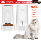 Automatic Pet Feeder Cat Dog Large Food Dispenser Water Fountain Drink Bowl Dish