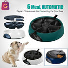 Automatic Pet Feeders 6 Day Meal Pet Dog Cat Food Bowl Auto Holiday Dispenser