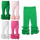 Baby Girls Ruffled Leggings Cotton Elastic Pants Toddler Casual Daily Clothes