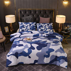 Premium All Season Camo Comforter Set Camouflage 3-Piece Bedding Set Full/Queen