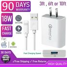 18W Fast Wall Charger Cube USB cable For iphone X,XS,11,12,Samsung Galaxy s10[Q2