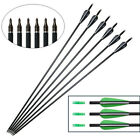 """12PCS 31"""" Carbon Arrows Hunting SP 500 for Recurvebow/Compoundbow Outdoor Sports"""