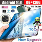 """10"""" Inch Android 10.0 Tablet Pc 128gb Octa Core Dual Sim Camera Gps Phablet Gift"""