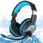 Gaming Headset Headphone w/Noise Canceling Mic LED Stereo Sound for Xbox One PS4