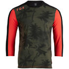Fox Racing Ranger Dri-Release Mens 3/4 Sleeve Mountain Bike Jersey Olive/Orange