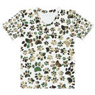 Camo Pattern Dog Paw Prints - Cute Cartoon Design Women's T-shirt