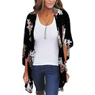 Holiday Womens Floral Kimono Cardigan Cover Up Shawl Beach Blouse Casual Tops