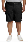 NWT Amazon Essentials Men's Black Cotton Twill Cargo Pocket Shorts BIG SZ 42-60