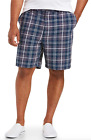 NWT Amazon Essentials Men's Blue Gray Plaid Cotton Twill Shorts BIG SIZES 42-60
