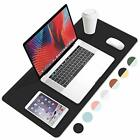 PU Leather Desk Pad with Suede Base, Laptop Desk Table Protector Writing Mat