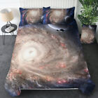 Kid Galaxy Bed Duvet Cover Set Quilt Sky Outer Space Bedding Twin for Comforter