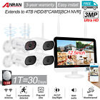 ANRAN Wireless Wifi 3MP Outdoor Security Camera System Wide Angle 4/8CH IP CCTV