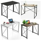 Large Wooden Folding Desk Wood Computer Laptop Table Foldable Home Office PC