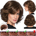 Women Natural Short Straight Wavy Curly Wig Party Cut BOB Full Hair Wigs Cosplay