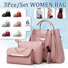 3Pcs Women Shoulder Bag Handbag Purse Tote Girls Messenger Fashion Gift 6 Color