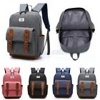 Men Women Canvas Backpack School Shoulder Bag Laptop Travel Rucksack Bags