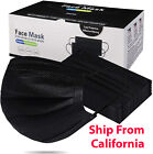 50 / 100 PCS Face Mask Mouth & Nose Protector Black Respirator Masks with Filter