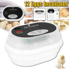 JANOEL 12 Eggs Incubator Fully Automatic Chicken Poultry Duck Quail