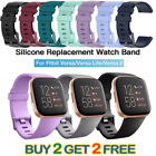 Replacement Silicone Band Strap Wristband For Fitbit Versa 1 2 Lite Watch 4 Pack