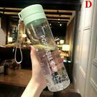 Water Bottle New Square Frosted Plastic Portable Transparent Juice Fruit
