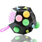 12 Sided Fidget Cube Spinner Desk Toy Kid Anxiety Adult ADHD Stress Relief Gift