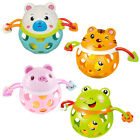 Infant Rattle Toy Hand Bell Grab and Spin Grasping Teething Teether Toys