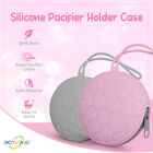 Ecovona - Silicone Baby Pacifier Holder Case    Soft Pocket Cover for Pacifiers
