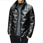 Winter Men's Puffer Coat Quilted Duck Down Cotton Jacket Outwear Warm Glossy