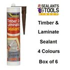 6   Timber & Laminate Sealant  Colours Stain & Paintable Pine Oak Beech Mahogany