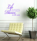 DANCE IN THE RAIN large wall sticker wall decal words