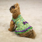 East Side Collection Dog Paisley Ruffled Sundress Cotton Hook & Loop Closure Pup