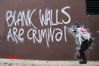 Banksy - Blank Walls Are Criminal Photo Art Print
