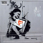 Banksy- LOVE TV GIRL- Graffiti street art