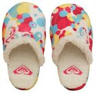 ROXY Slippers Faux Sheepskin Pink Multi Wahine RP£20