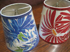POTTERY BARN LAMP SHADES ~ RED OR BLUE