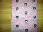 NEW KINDERMAT NAP MAT W/ PINK JOHN DEERE COVER PILLOW