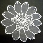 """1pc / 4 pc Round Flower Lace Patch Craft 3-1/2"""" W A45"""