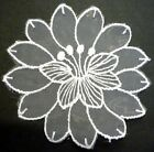 "Round Flower Lace Patch Craft 3-1/2"" / 8.9 cm diameter A45"