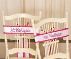 Personalized Custom Embroidered Wedding Chair Sashes