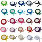 "25 Yards 3/8"" 9mm Satin Ribbon Wedding Party Colors New"