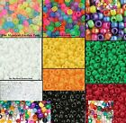 Acrylic Pony Bead Solids & Mixes  9x6mm  Great Variety!